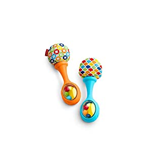 Fisher-Price Rattle 'n Rock Maracas, Blue & Orange