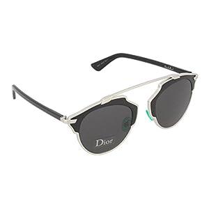 Dior Sunglasses Dior So Real Sunglasses B1AY1 Silver and Black 48mm
