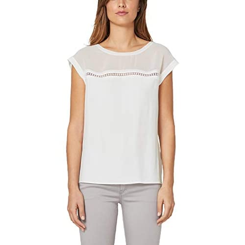 dirt cheap high fashion factory outlets s.Oliver BLACK LABEL Damen Blusenshirt im Fabric-Mix Cream ...