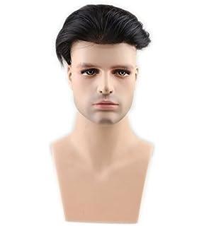 Eseewigs peruca de peluca de hombres peluca recta peluca de cabello natural peluca hermosa de colores