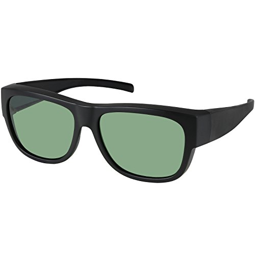 Fit Over Sunglasses Polarized Wear over Prescription Eyeglasses Unisex for Men and Women Pouch - Prescription Eye Wear