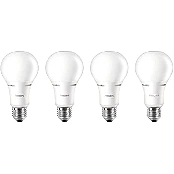Philips LED Dimmable A21 Soft White Light Bulb with Warm Glow Effect: 1100-Lumen, 2700-2200-Kelvin, 14-Watt (75-Watt Equivalent), E26 Base, Frosted, ...