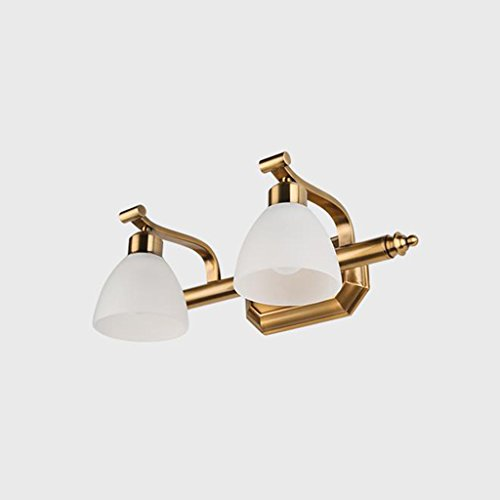 Led Lamps Led Indoor Wall Lamps Careful L Led Gold Mirror Cabinet Light Simple Bathroom Moisture-proof Bathroom Mirror Headlight Dressing Table Retro Strip Wall Lamp Numerous In Variety