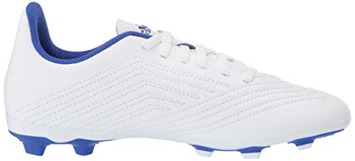 adidas Unisex Predator 19.4 Firm Ground Soccer Shoe White/Bold Blue/Bold Blue, 3 M US Little Kid by adidas (Image #6)
