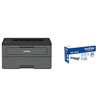 Brother HLL2375DW - Impresora láser monocromo con red cableada + Brother TN-2420 Laser cartridge 3000 páginas Negro tóner y cartucho láser