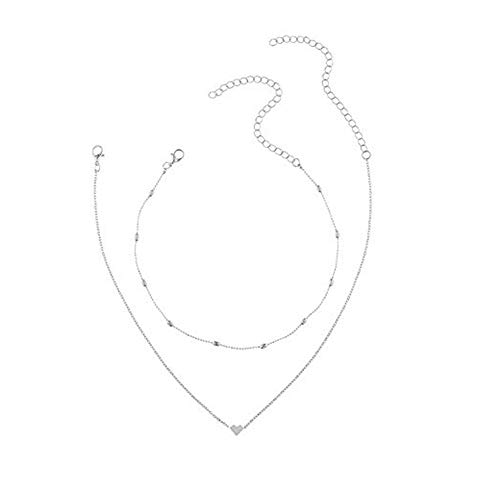 (Fashion Pendant For Women Double Layer Heart Statement Chain Necklace)