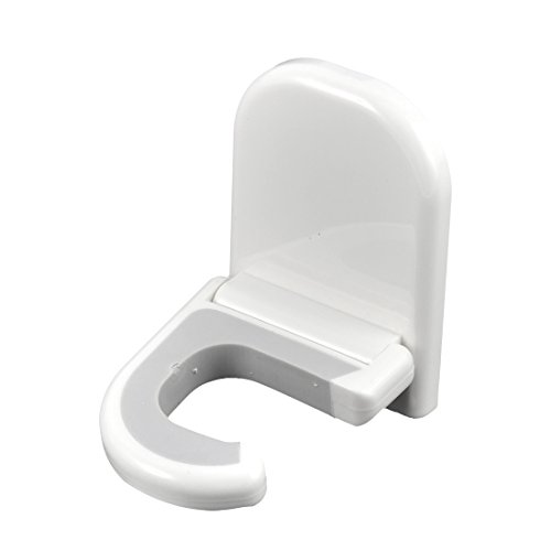 uxcell Persuasible Office Hotel Broom Swob Mop Adhesive Wall Hook Clip Holder
