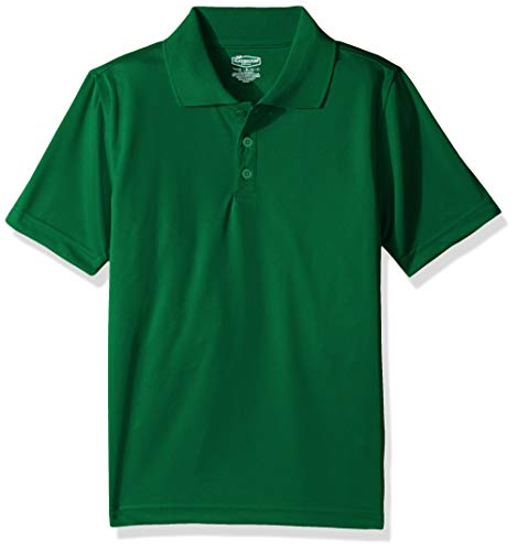 Classroom School Uniforms Boys' Big Youth Unisex Moisture-Wicking Polo Shirt, sos Kelly Green, - Kelly Polyester Green