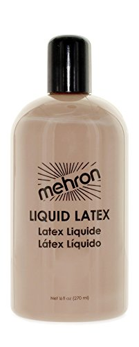 Mehron Makeup Liquid Latex for Special Effects| Halloween| Movies – Clear - 16oz