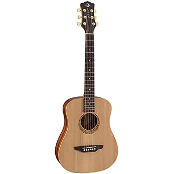 Luna SAFSUPREME Safari Supreme Solid Spruce Top Acoustic Guitar, Ebony Fingerboard, Satin