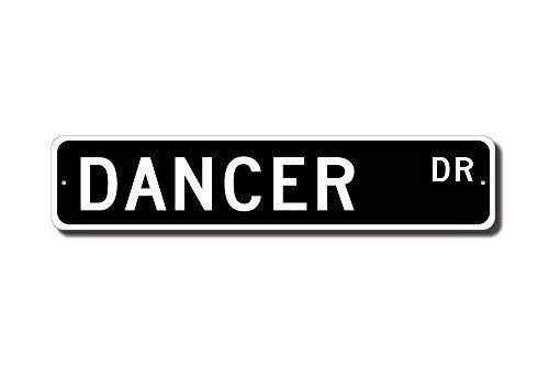 Iliogine Dancer Gift Dancer Sign Gift for Dancer Dance Studio Dance Performer Street Sign Room Sign Wall Art Decor Aluminum Tin Sign