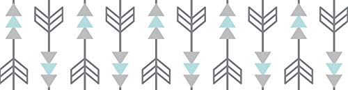 - Sweet Jojo Designs Turquoise Blue and Gray Earth and Sky Nature Birds Arrows Kids and Baby Modern Wall Paper Border