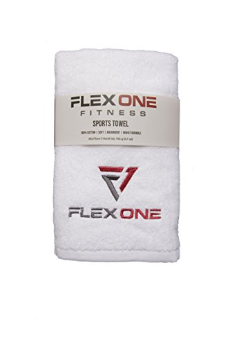 FlexOne Fitness Sports Towel, Quick Absorption, Soft, Easy to Wash, Highly Durable, 100% Cotton