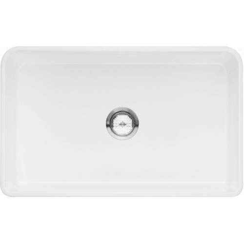 Blanco 524257 Cerana Ii Fireclay 0-Hole Undermount Single Bowl Kitchen Sink, 30