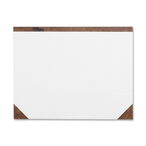 TOPS Desk Pad, 22 x 17 Inches, White, Quad Rule (4 x 4), 50 Sheets per Pad (7950)