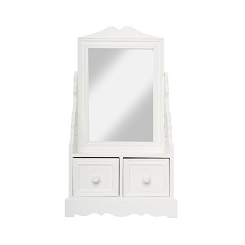 4dcf2f39c10ad elbmoebel Wall mirror shabby chic antique style ornate black silver white -  large 33x27x3 cm