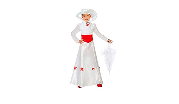 DISBACANAL Disfraz de Mary Poppins Infantil - Único, 5-6 años ...