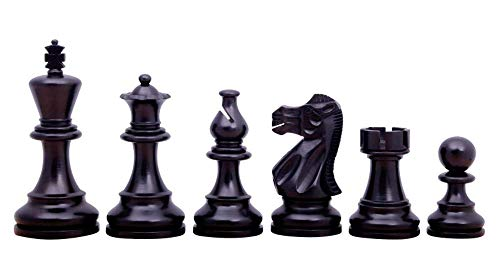 Atlantic Classic Chess Pieces Staunton Ebonised Boxwood 3.75″