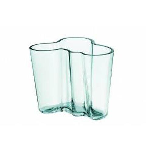 Iittala Aalto 6.25 Tall Glass Vase, Water Green - Iittala Aalto Flower Vase