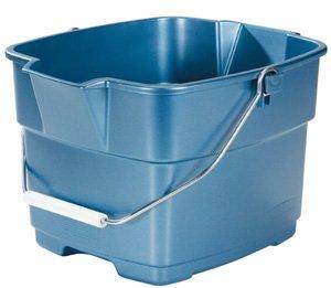 Rubbermaid FG287100ROYBL Roughneck Square Bucket, 15-Quart, Blue