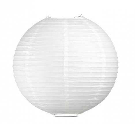 Perfectmaze 12 Piece White Round Chinese Paper Lantern for Wedding Party Engagement Decoration (14''(Inch))