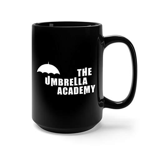 Mug Academy - The Umbrella Academy Ceramic Coffee Mug Tea Cup (15oz, Black)