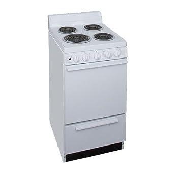 Amazon.com: 2.42 Cu. Ft. Electric Range Finish: White: Appliances