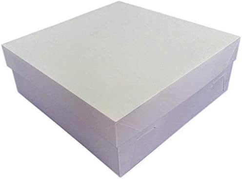 We Can Source It Ltd - Caja de cartón para Tartas con Tapa extraíble para Tartas de cumpleaños, Bodas, 100% desechable, Biodegradable, reciclable, 40,6 x 40,6 x 15,2 cm: Amazon.es: Hogar