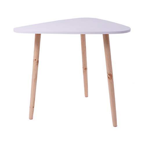 Spetebo Diseño Mesa Auxiliar Blanco 60 x 64 cm - Riñón Mesa Mesa ...