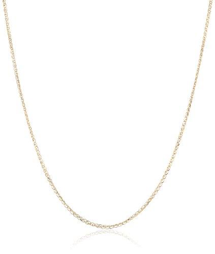 14k Yellow Gold Italian Diamond-Cut Light Spiga Chain Necklace, 16