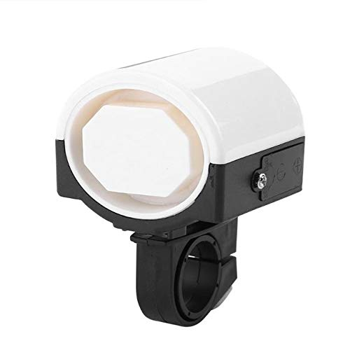 VDV Bicycle Electronic Bell Loud Bike Handlebar Alarm Ring Horn Cycling MTB Road Bicycle Hooter Siren Bicycle Accessories-White