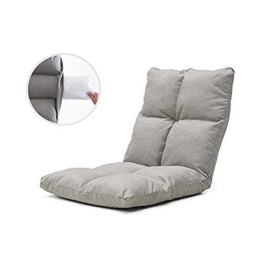 (Lounge Sofa, Bed Folding Adjustable Floor Lounger Sleeper Futon Mattress Seat Chair - 52x55x55cm (Color : C))