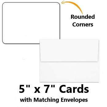 Hamilco White Cardstock Thick Paper - Blank Index Flash Note