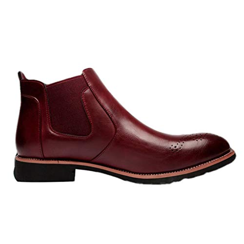 Giles Jones Men's Chelsea Boots Autumn Winter Retro Non-Slip Breathable Slip-on Ankle Boots