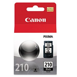 Canon OEM 2974B001 PG-210 (PG-210) Black Inkjet Cartridge (220 YLD) for PIXMA iP2700, PIXMA iP2702, PIXMA iP2770, PIXMA iP2772, PIXMA MP240, PIXMA MP245, MP250, MP252, MP258, MP260, MP268, MP270, PIX ()
