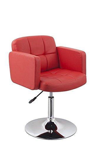 Clubsessel Sessel Kunstleder Rot Esszimmerstuhl Lounge Sessel