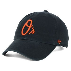 ('47 Brand MLB Baltimore Orioles Clean Up Cap - Black)