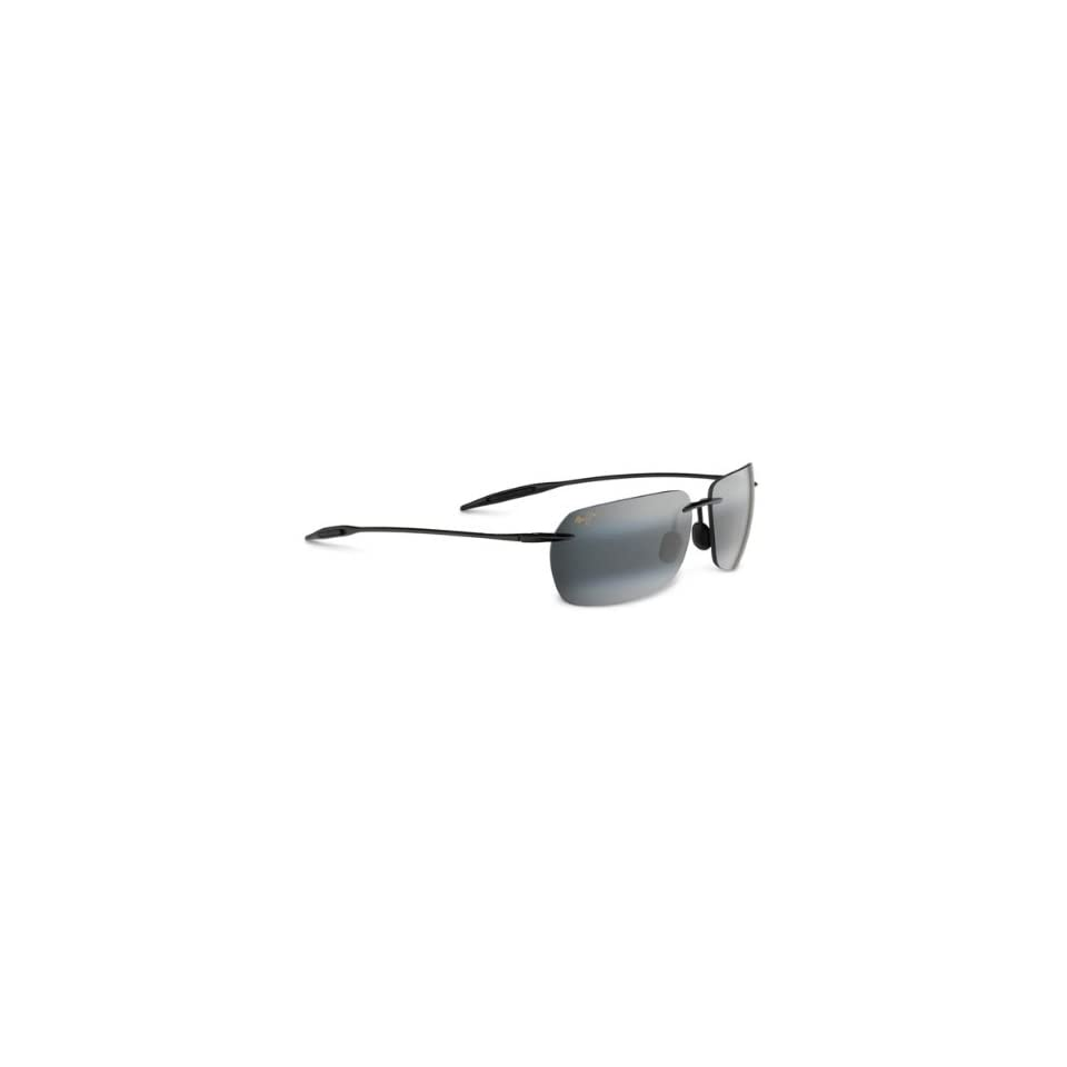 Maui Jim Grey Banzai Black Sunglasses 425 02 with Case New  Sports & Outdoors