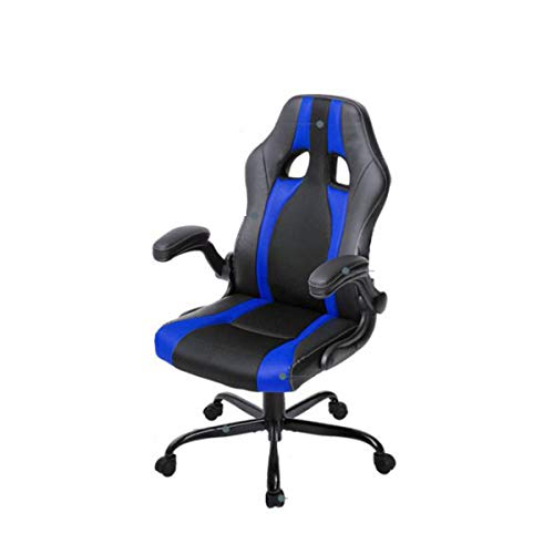 (TONGBOSHI Swivel Chair, Office Swivel Chair, Computer Swivel Chair, Executive high Back Racing Game Chair, PU Leather and mesh, Blue, red (Color : Blue))