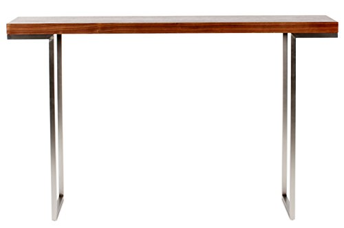 Cheap Moes Home Collection Repetir Console Table, Walnut