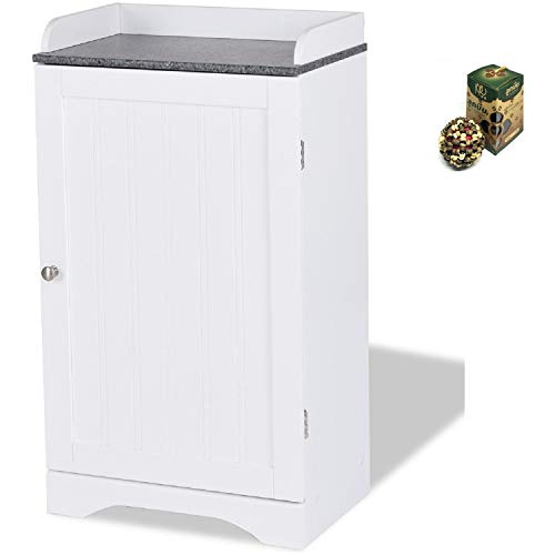 Bathroom Freestanding Storage Cabinet w/Single Door by SpiritOne + Gift Coconut Shell -