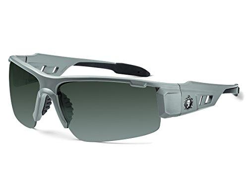 Ergodyne Skullerz Dagr Polarized Safety Sunglasses- Matte Gray Frame, Smoke Lens (Sunglasses Gray Smoke)