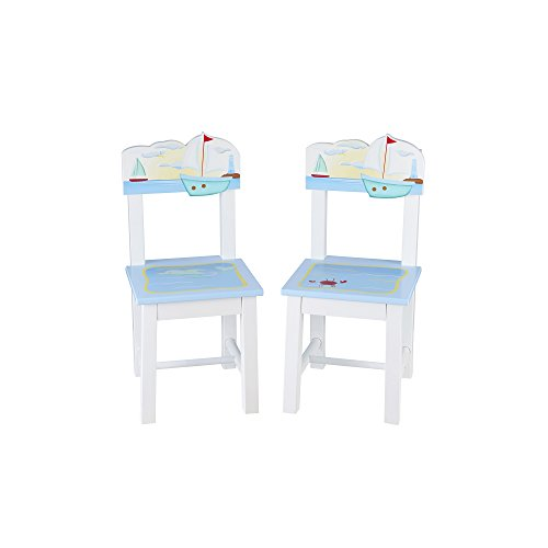 Guidecraft Wood Hand-Painted Sailing Extra Chairs (Set of 2) G88203