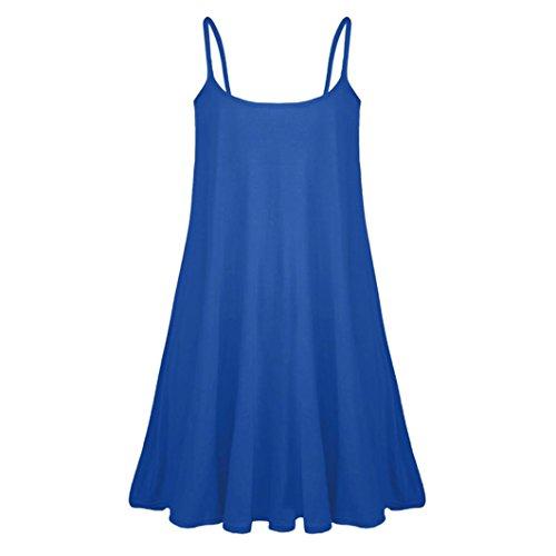Blau maniche Vestito Sera Senza ITISME Donna yS7Fqnn
