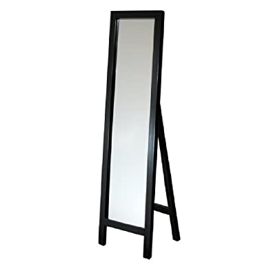 Head West Easel Espresso Floor Mirror, 18 by 64-Inch