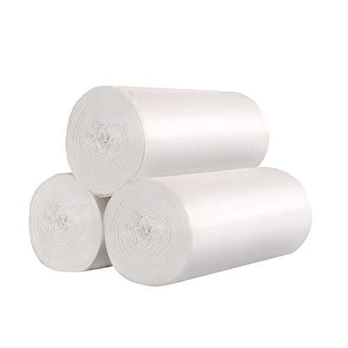 (4 Gallon Medium Garbage/Trash Bags,150 Count /3 Rolls(Clear White))