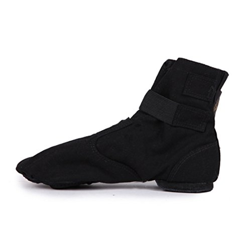 lienzo jazz baile Magic danza moderna Negro Nuevo de danza alta de botas hebilla práctica ayuda zapatos 2017 TMKOO de W8InqSgg