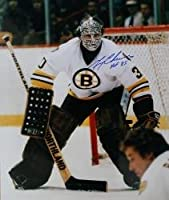 Autographed 16 X 20 Gerry Cheevers Boston Bruins Photo