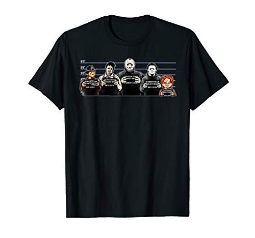 Halloween Horror Nights T Shirts (The Psycho Bunch Serial Killers Jail Mugshot Horror Lovers)
