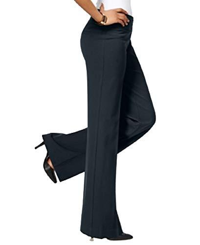Style & Co Stretch Wide-Leg Pants (Navy, - Co Woman Wide Style Pant & Leg